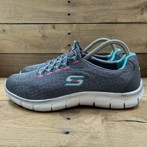 SKECHERS Flex Relaxed Fit Women's Gray Turquoise